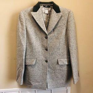 Brooks Brothers Wool Silk Blazer Velvet Collar S.4
